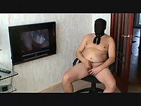 Nylon party of fat man