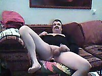 Mature Chap Jacking Off Together With Toying