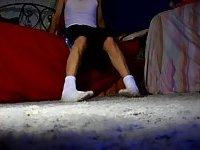 Foot Fetishist In Dirty White Socks