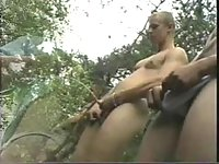 Forest hot blowing & pissing