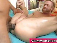 Interracial big black cock cumshot