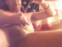 Amateur Guy Stuffing & Stroking His Cock