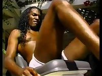 Black gays tugjob outdoor