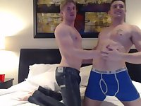 Horny Guys Fucking In Bedroom