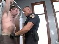 Nasty Policeman Bondages A Guy