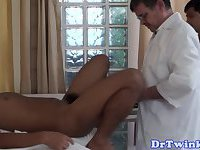 Asian doctor ass drilling twink patient