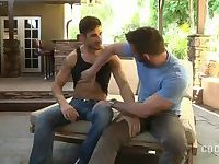 Sexy Bodybuilders Fucking on a Couch