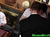 Bound mormon gets tugged