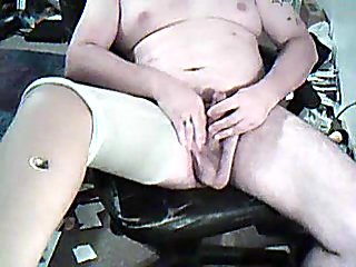 Fat jerking off relaxation