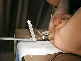 Deep ass penetration from fucking machine