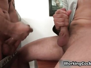 Andrew Blue gets his firm cock sucked