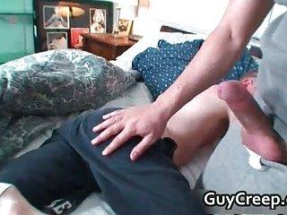 Bradley Michaels gets his tiny anus fingered
