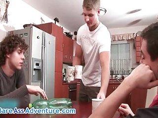 Hot gay porn threesome hardcore porno