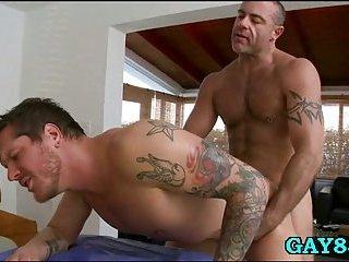 Gay masseur tastes new cock