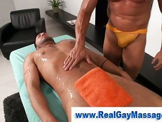 Straight guy massage seduction