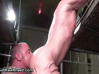 Jacob White and Rick Richards in hot gay porn fucking