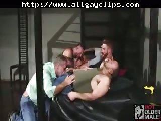 Real bears male sucking & fucking orgy