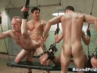 Hardcore gay BDSM porn clip with Tristan and Riley