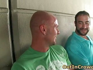 Hot straight hunks get outed in public places free gay clips