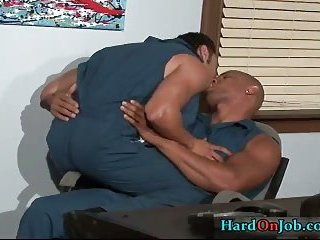 Gianni and Jay have steamy gay sex at work 1