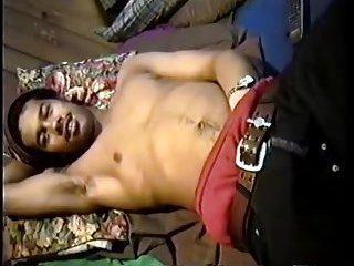 Sexy Black Guy Whacking Off