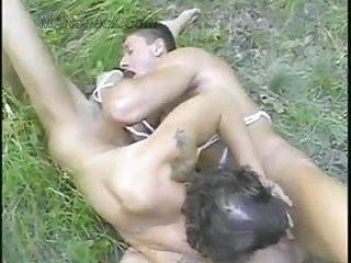 Nasty Gay Guys Outdoor Fucking