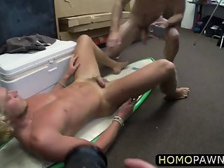 Hot blonde muscled surfer gets his dick sucked and his ass fucked