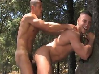 Horny Gay Guys Outdoor Ass Stuffing