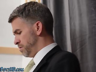 Horny Guy in Uniform Masturbatin
