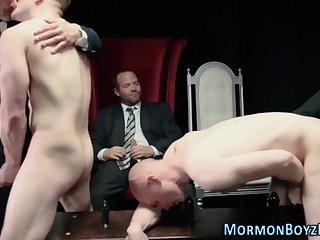Bishop cums mormon hunks